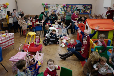 Mums and toddlers in the Church hall